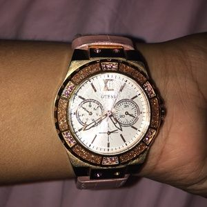 Baby pink watch from guess